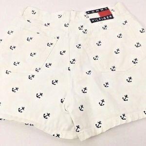 VTG '90s Tommy Hilfiger Hi Waisted Nautical Shorts
